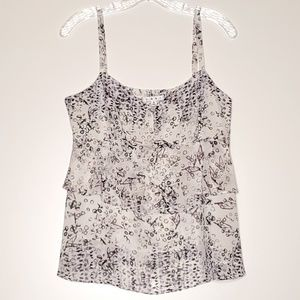 CAbi On The Clock 272 Tiered Ruffle Cami Size M